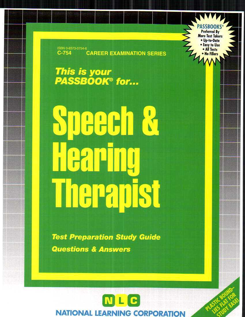 Speech and Hearing Therapist By Rudman, Jack